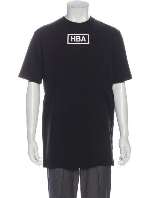 Hood by Air Graphic Print Crew Neck T-Shirt Black