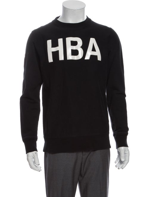 Hood by Air Graphic Print Crew Neck Sweatshirt Bla