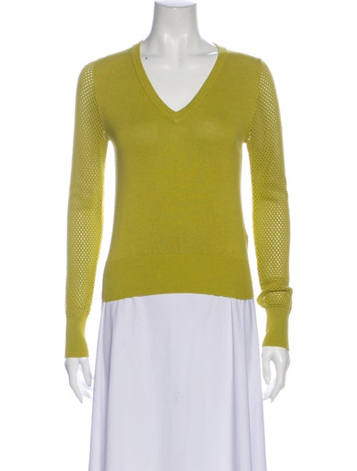 Happy Sheep V-Neck Sweater Green