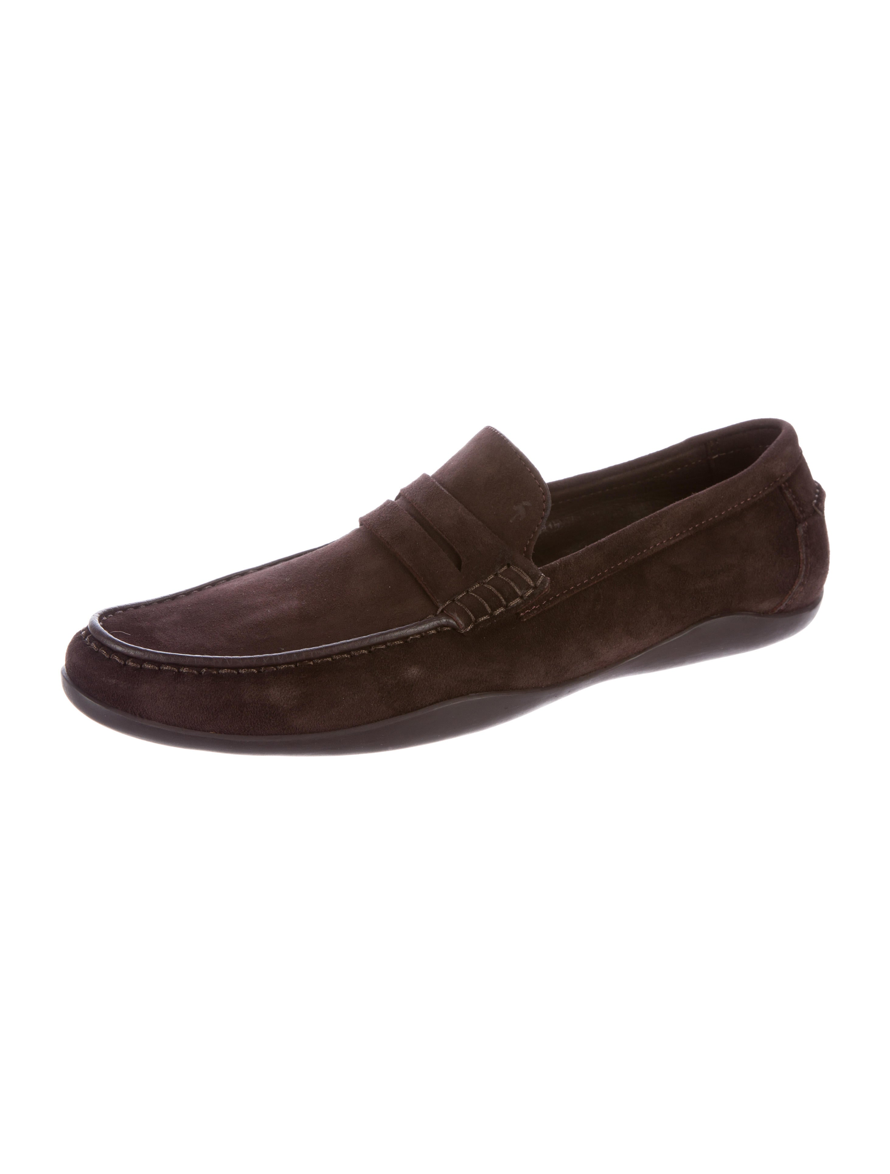 harrys of basel suede driving loafers shoes