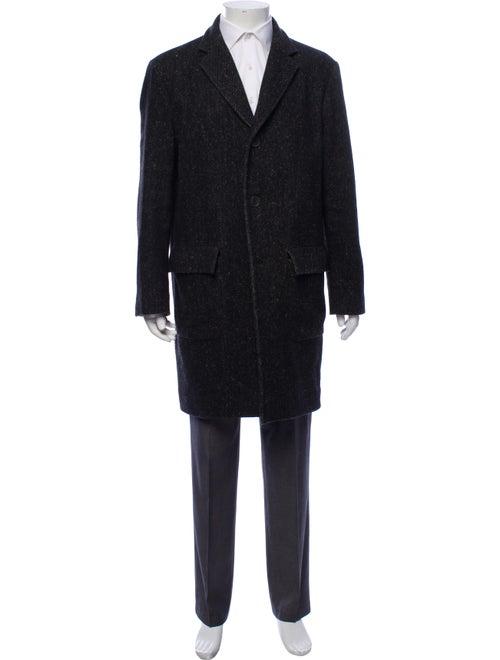 Herno Tweed Wool Top Coat grey
