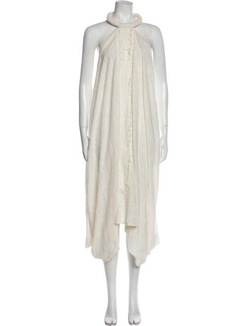 Elizabeth Hurley Halterneck Long Dress