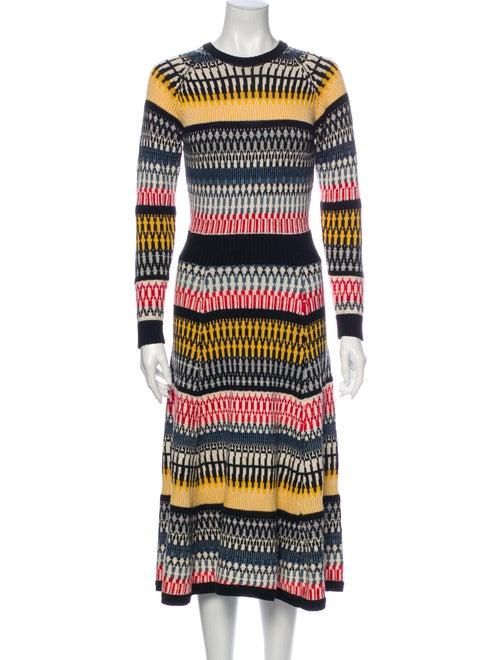Henrik Vibskov Striped Midi Length Dress