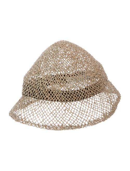 Henrik Vibskov Straw Bucket Hat Tan
