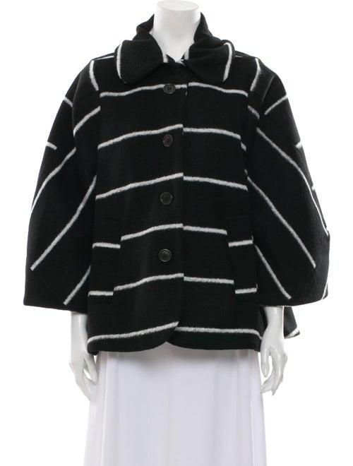 Henrik Vibskov Striped Coat Black