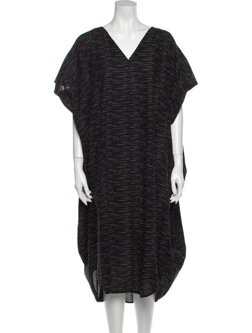 Henrik Vibskov V-Neck Long Dress Black