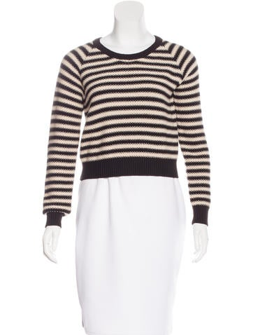 Mara Hoffman Striped Cropped Sweater None