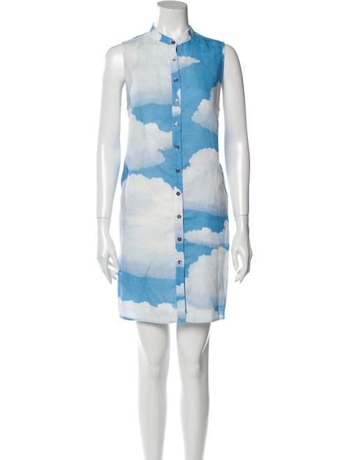Mara Hoffman Linen Mini Dress Blue