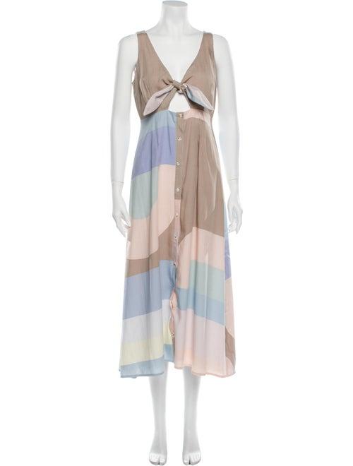Mara Hoffman Colorblock Pattern Long Dress