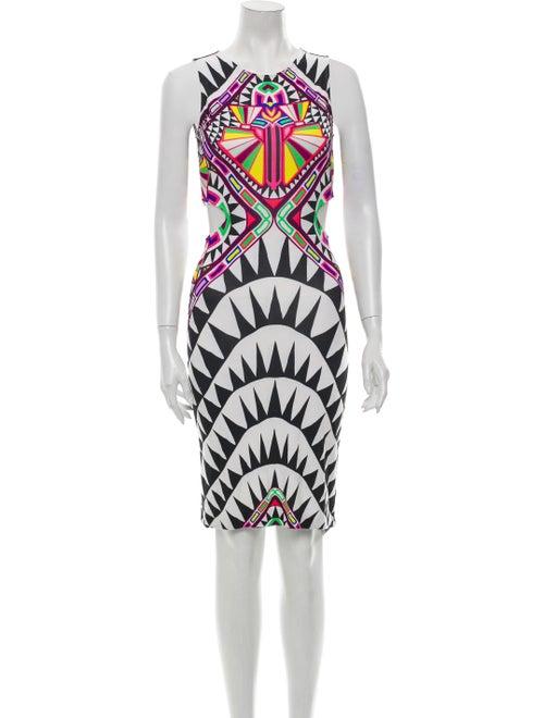 Mara Hoffman Printed Knee-Length Dress White