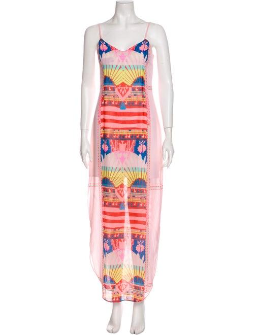 Mara Hoffman Printed Long Dress Pink