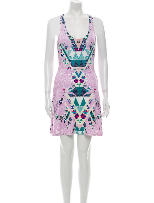 Mara Hoffman Printed Mini Dress Purple