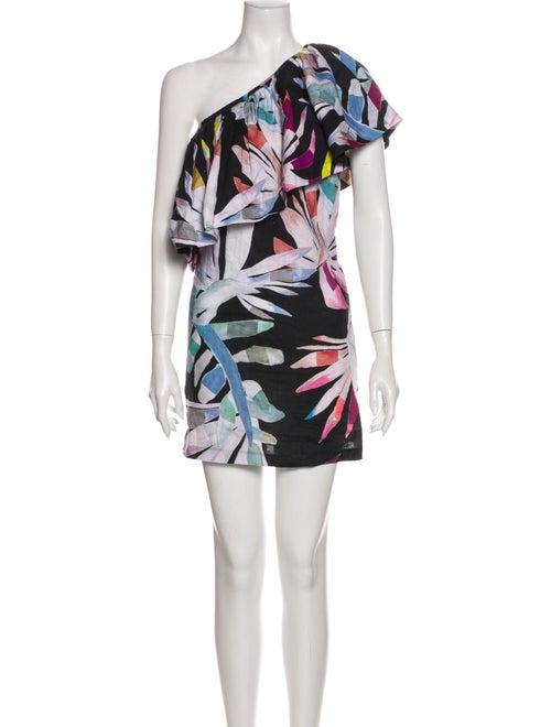 Mara Hoffman Linen Mini Dress Black