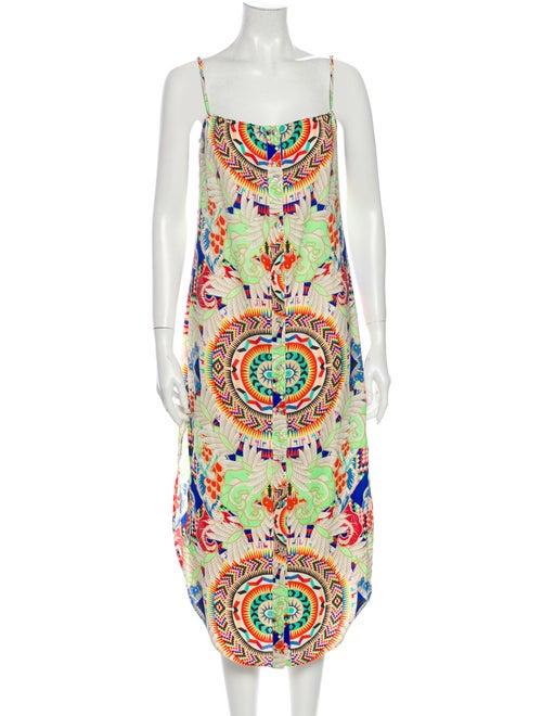Mara Hoffman Printed Midi Length Dress Green