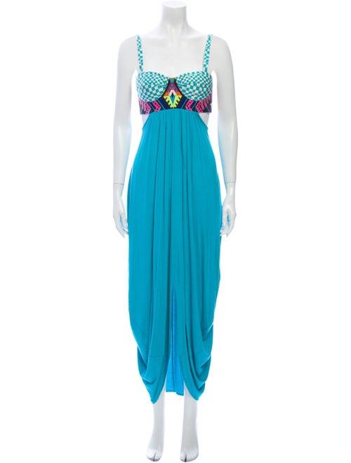 Mara Hoffman Square Neckline Long Dress w/ Tags Bl