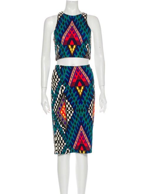 Mara Hoffman Printed Skirt Set Blue