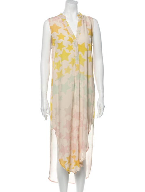 Mara Hoffman Floral Print Long Dress Pink