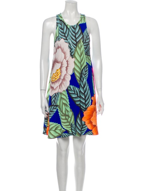 Mara Hoffman Printed Mini Dress Blue