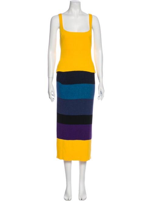 Mara Hoffman Striped Skirt Set Yellow