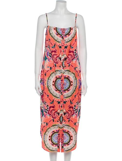 Mara Hoffman Printed Midi Length Dress Pink