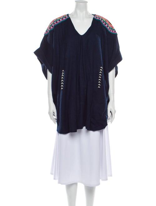Mara Hoffman Wool V-Neck Sweater Wool