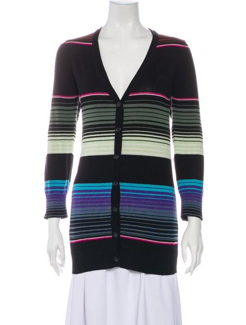 Mara Hoffman Silk Striped Sweater Black