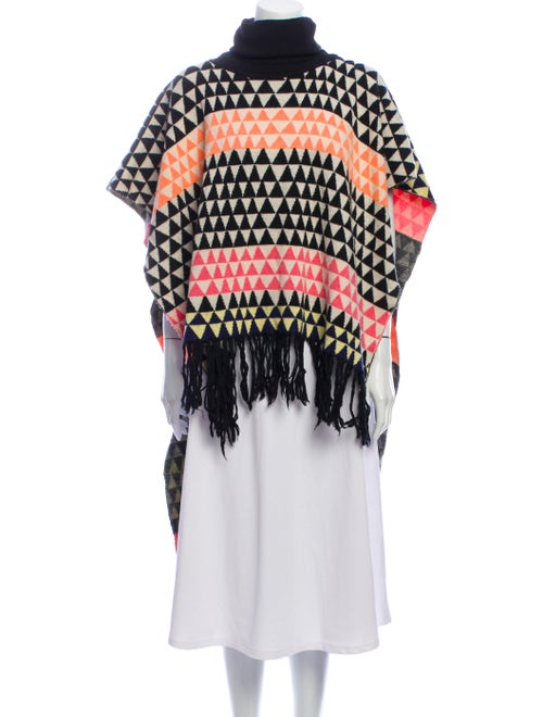 Mara Hoffman Striped Turtleneck Sweater Black