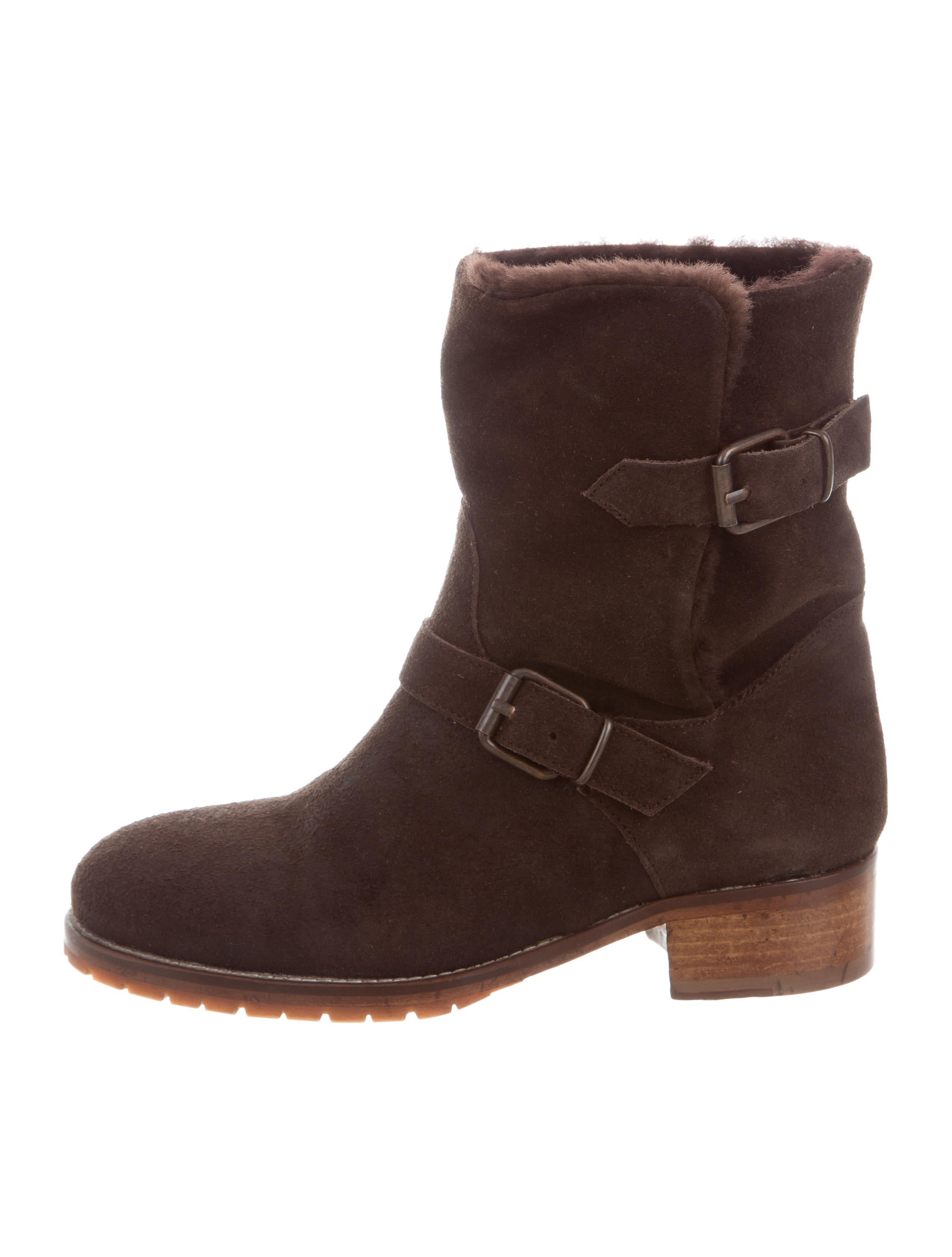 CHUCKiES New York Shearling-Lined Moto Ankle Boots wide range of sale online oex7x80Z