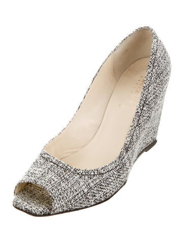 CHUCKiES New York Tweed Peep-Toe Wedges sale big sale free shipping get to buy cheap the cheapest get authentic RuGWo