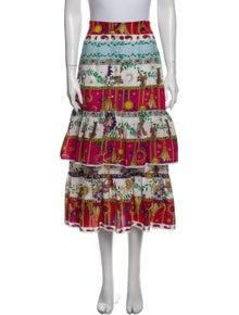 Hayley Menzies Silk Midi Length Skirt