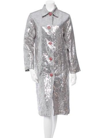 Sequin Embellished Coat