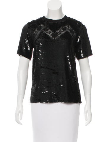 Ashish Silk Sequined Top None