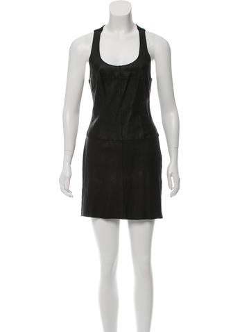 illia Leather Mini Dress None