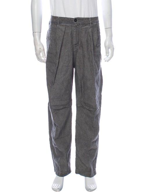 Massimo Alba Striped Pants Grey