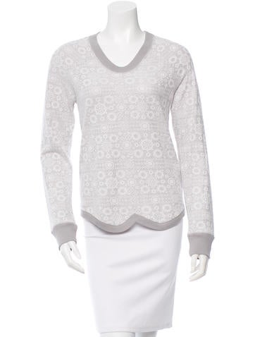 ICB Long Sleeve Lace-Accented Top None