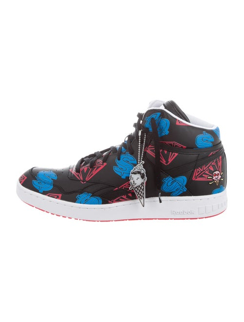 Icecream Graphic Print Sneakers Black