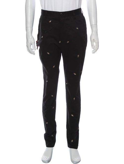 Icecream Patterned Cargo Pants Black