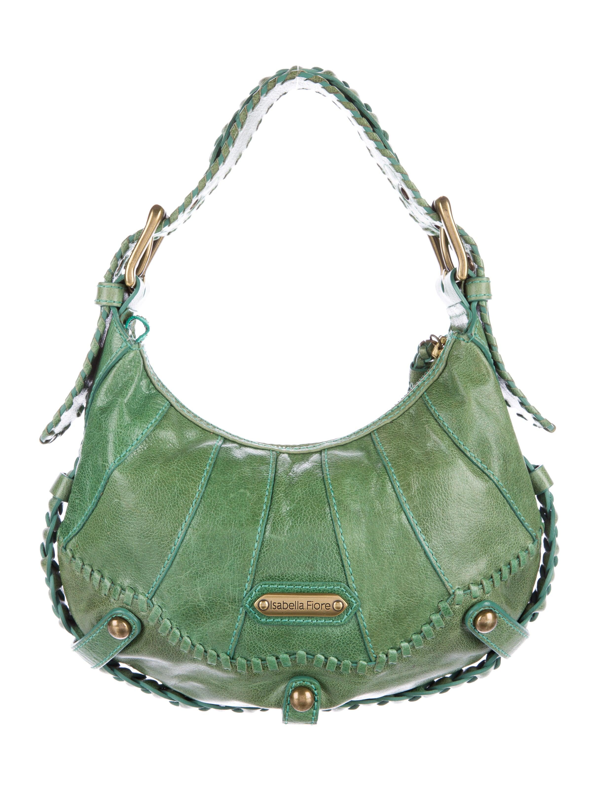 Isabella Fiore Leather Graphic Shoulder Bag Handbags