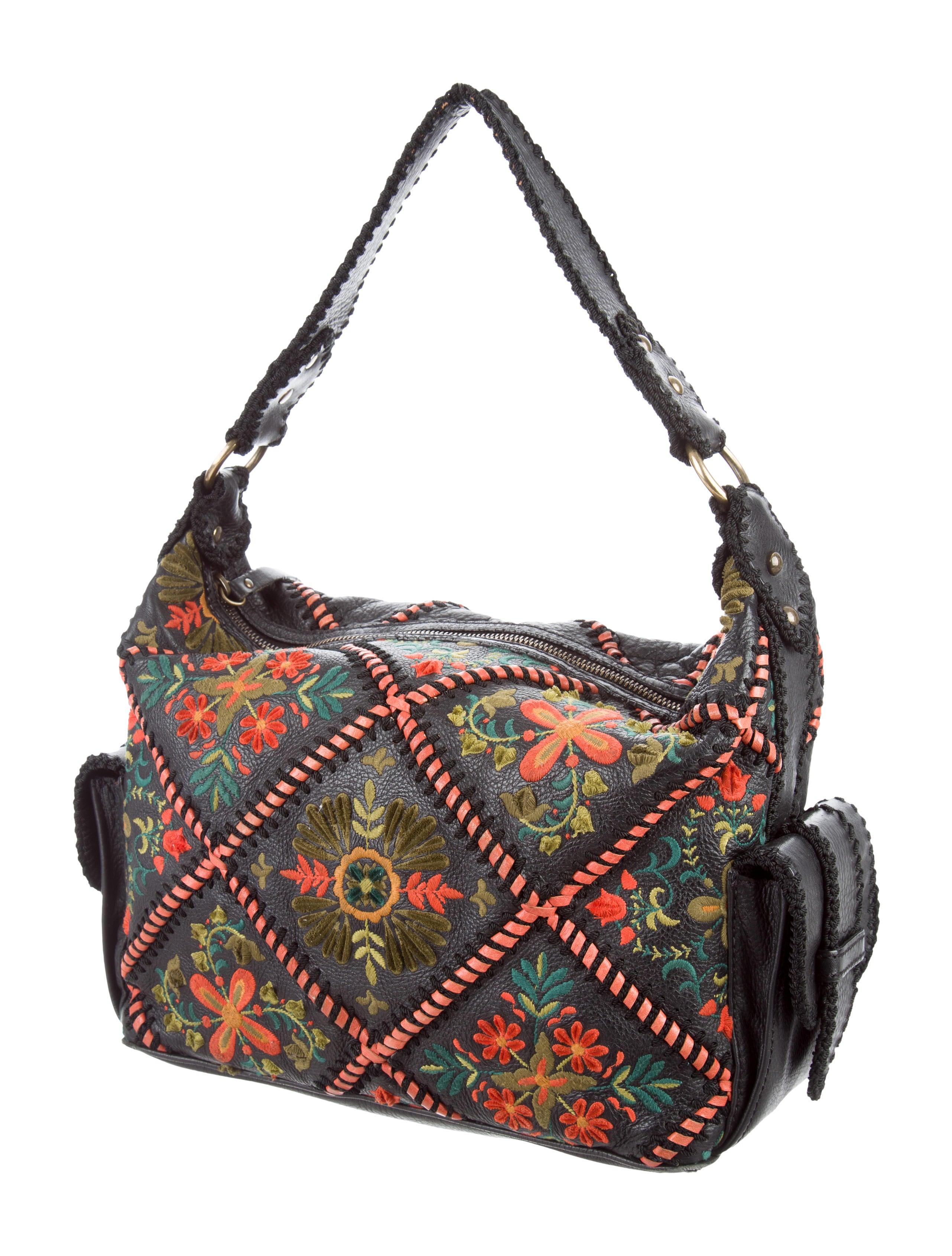 Isabella fiore embroidered shoulder bag handbags