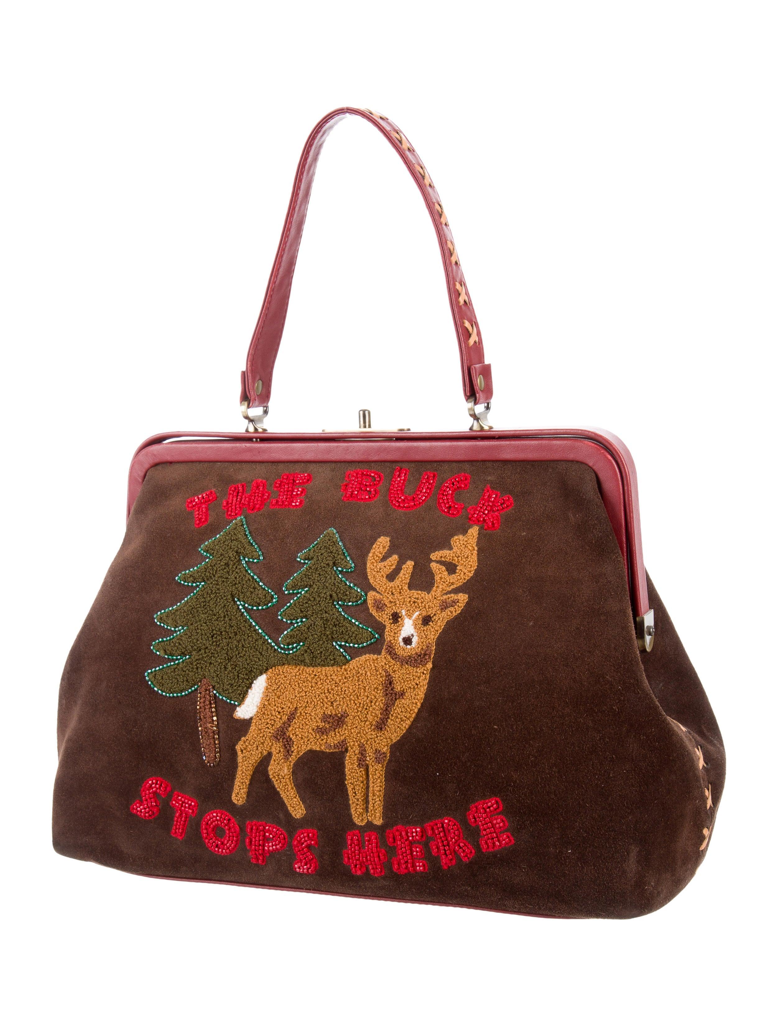 Isabella Fiore Embellished Handle Bag