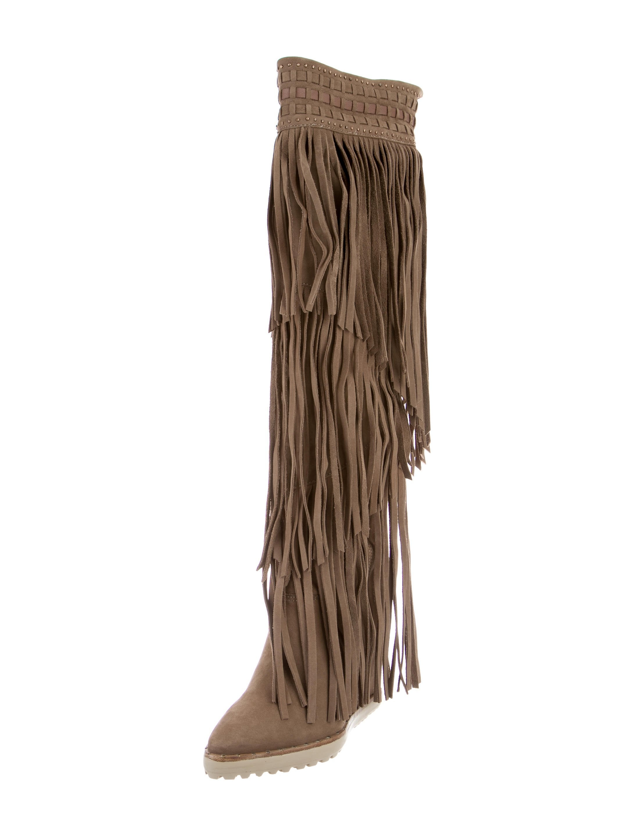buy cheap factory outlet Ivy Kirzhner Suede Fringe Boots w/ Tags largest supplier cost cheap price clearance from china OfWkjiQIj