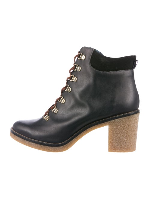 Miista Leather Ankle Boots Black