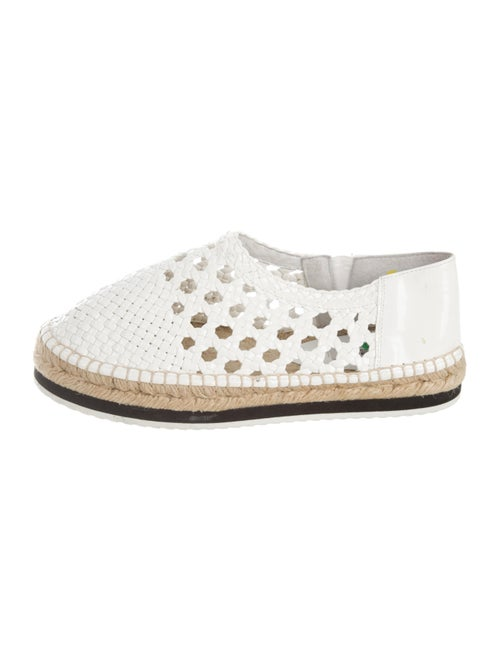 Miista Patent Leather Espadrilles White