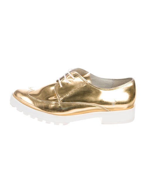 Miista Leather Oxfords Gold