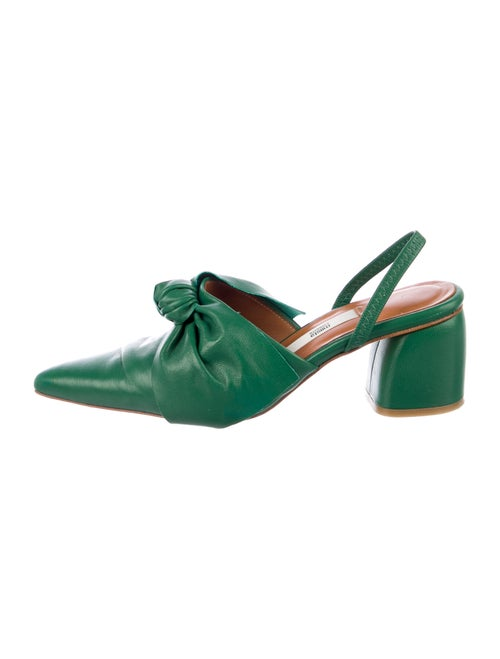 Miista Leather Pumps Green
