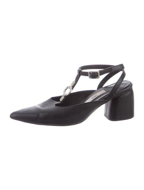 Miista Leather T-Strap Pumps Black