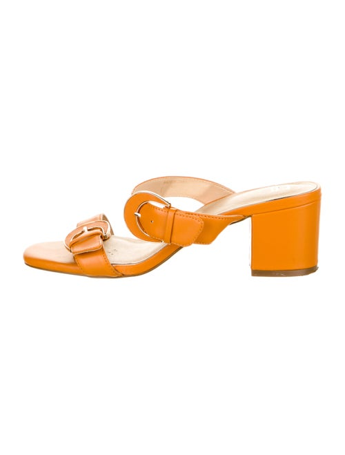 Miista Leather Slides Orange