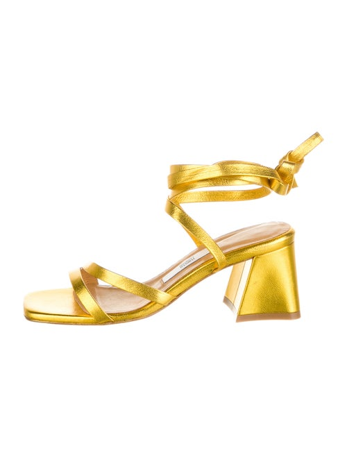 Miista Leather Sandals Yellow