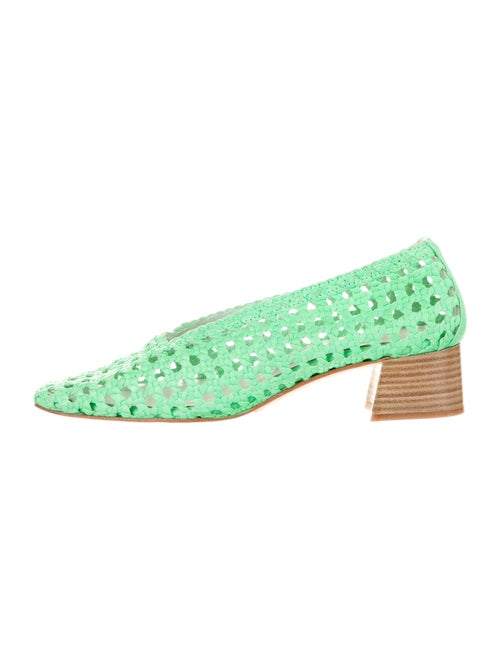 Miista Printed Braided Accents Pumps Green