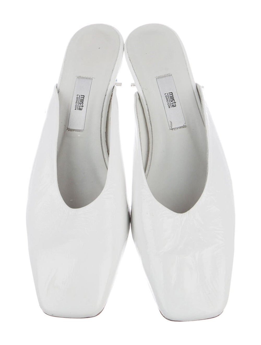Miista Patent Leather Mules White - image 3